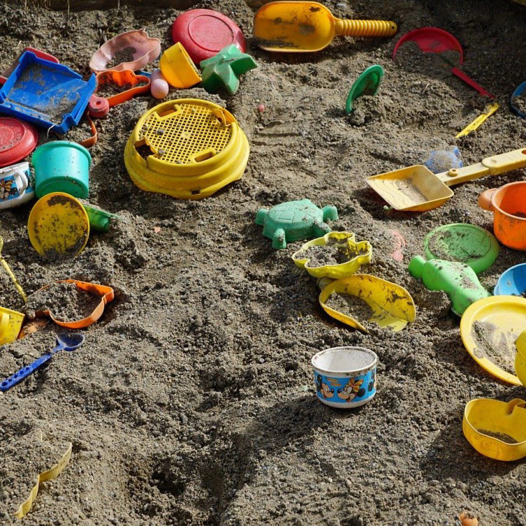 sand, box, play